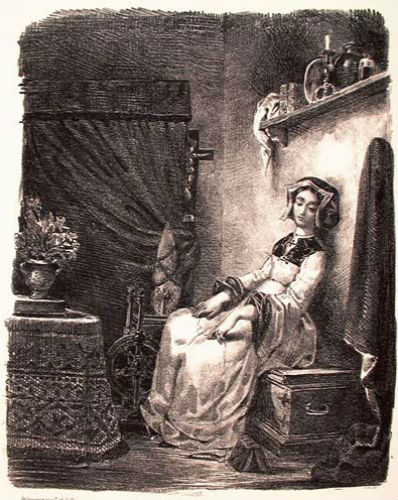 Маргарита и прялка - литография 1828.jpg