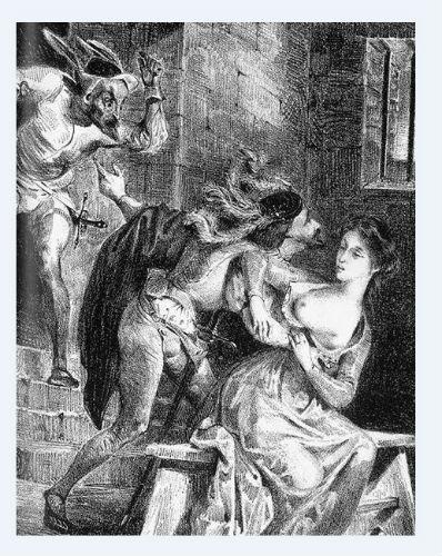 Фауст спасает Маргариту из заточения - литография 1828.jpg