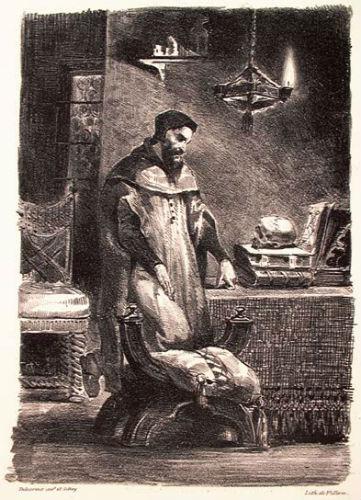 Фауст в своём кабинете - литография 1828.jpg
