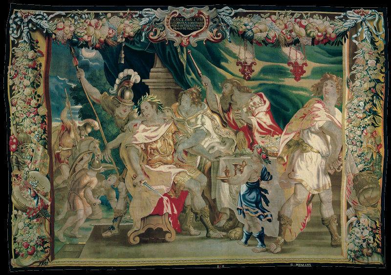 Юстус ван Эгмонт 1601-1674 - гобелен Раскрытие заговора убийства Цезаря и Клеопатры.jpg
