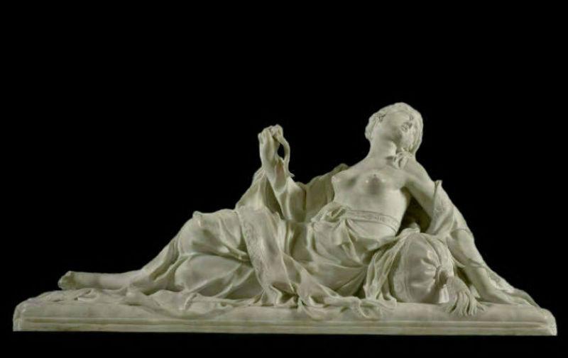 Франсуа Баруа - Умирающая Клеопатра 1700 мрамор - Лувр.jpg