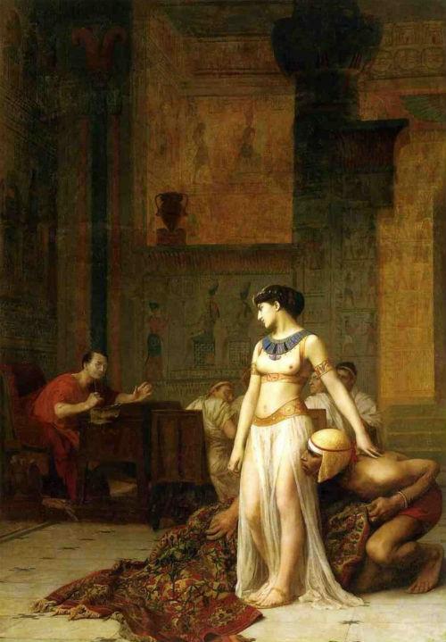 Жан-Леон Жером - Клеопатра и Цезарь 1866.jpg