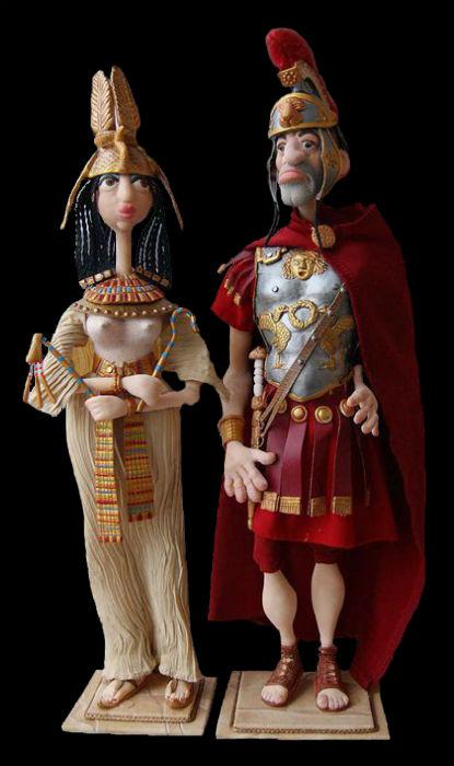 Александр Иванов - Клеопатра и Марк Антоний - авторские куклы.jpg