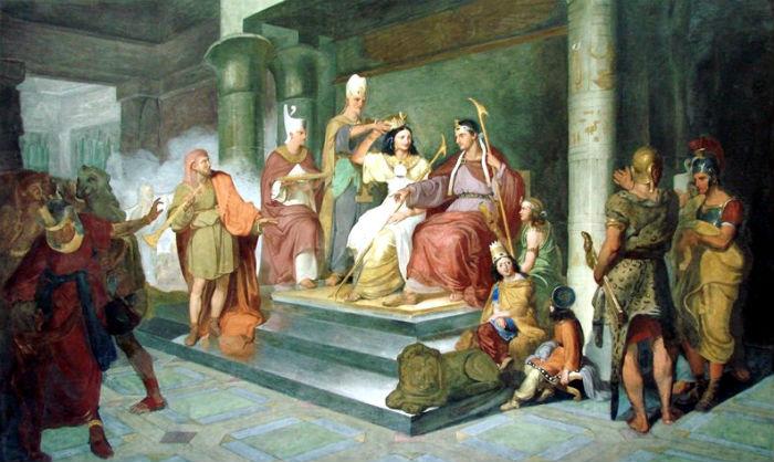 Луиджи Фьорони (1795-1864)  - Коронация Антония и Клеопатры.jpg