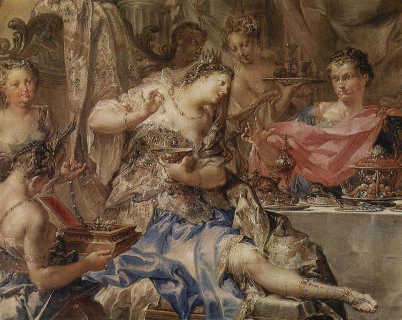 Иоганн Георг Платцер - Пир Клеопатры 1750 - Эрмитаж.jpg