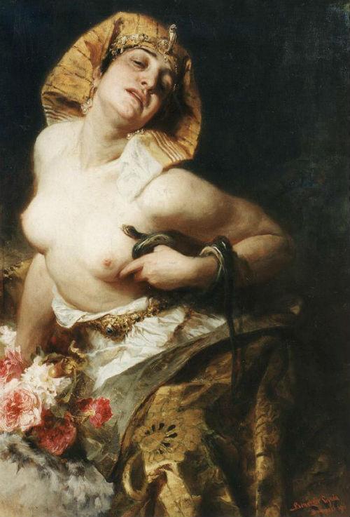Benczur-kleopatra - Смерть Клеопатры картина венгерского художника Дюлы Бенцура 1911.jpg