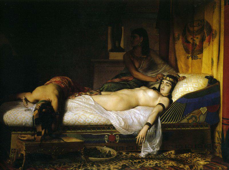 Jean Andre Rixens 1874 Смерть Клеопатры.jpg