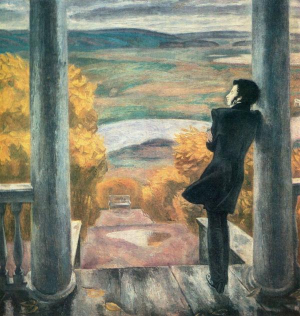 Виктор Ефимович Попков (1932-1974) - Осенние дожди. Пушкин (1974) - Государственная Третьяковская галерея.jpg