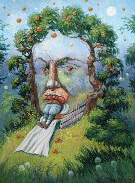 Олег Шупляк - Исаак Ньютон в саду Идей.jpg