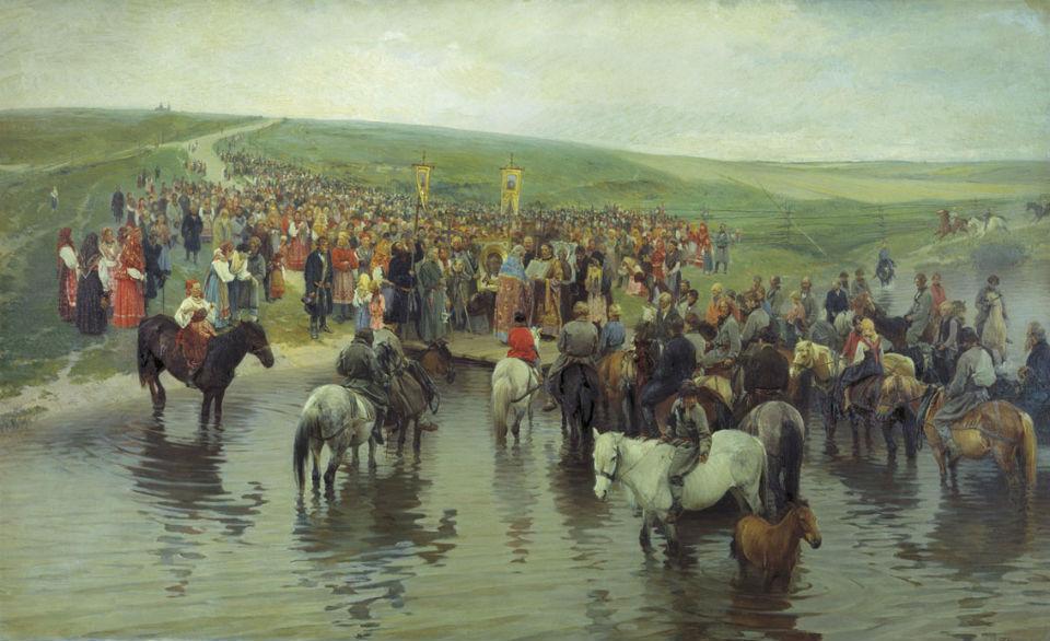Илларион Михайлович Прянишников (1840-1894) - Спасов день на Севере - 1887 - ГТГ.jpg