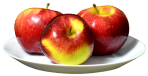 яблоки на тарелке.png