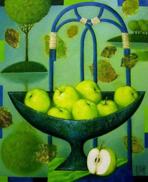 Ирина Котова- натюрморт с яблоками.jpg