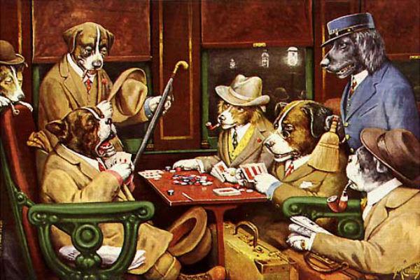 Кассиус Кулидж - Собаки играют в покер 1903.jpg