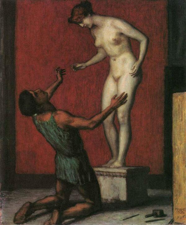 Франц фон Штук - Пигмалион и Галатея 1926.jpg