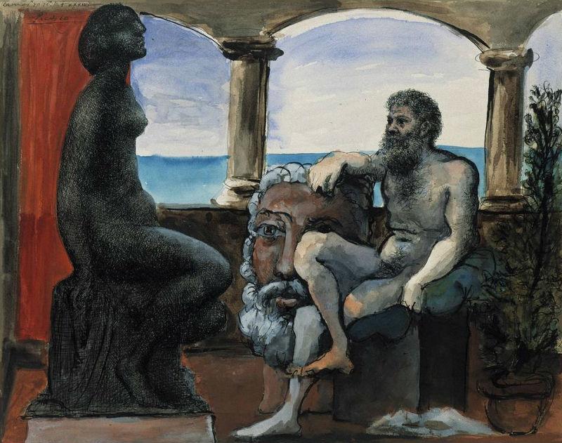 Pablo Picasso (spanish) (1881-1973) - Pigmalión y Galatea.jpg