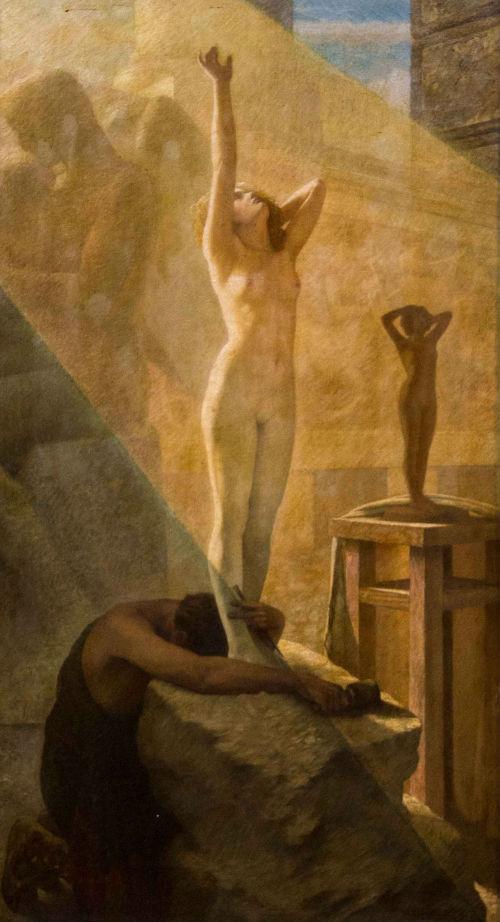 Herbert Gustave Schmalz (british) (1856-1935) - Awakening of Galatea (L'Eveil de Galatée Le rêve du sculpteur) 1907.jpg