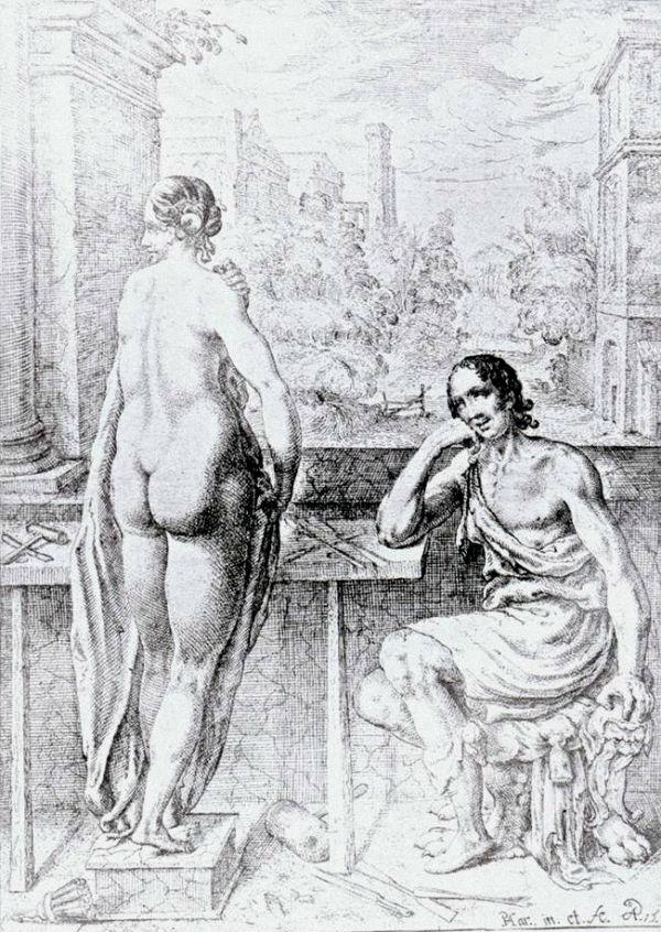 Pieter Feddes (dutch) (1585-1634) Pygmalion 1615.jpg