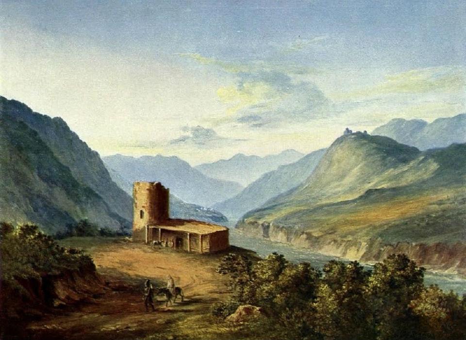 Михаил Лермонтов - Военно-Грузинская дорога близ Мцхета - 1837.jpg