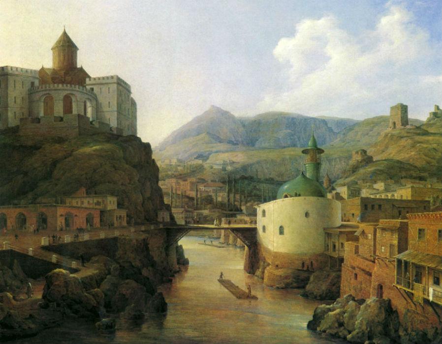 Вид Метехского замка и татарской мечети в Тифлисе - 1831.jpg