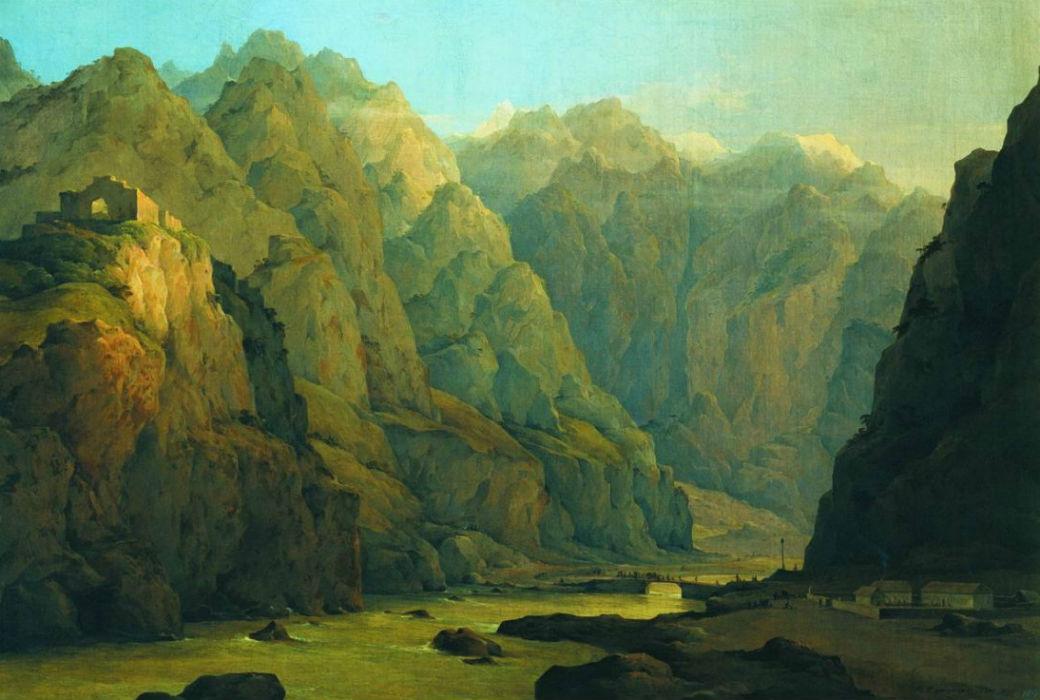 Дарьяльское ущелье. Кавказ 1851.jpg