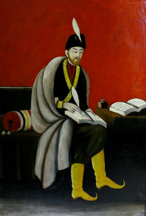 Нико Пиросмани - Портрет Шота Руставели - 1915 - Государственный музей искусств Грузии.jpg