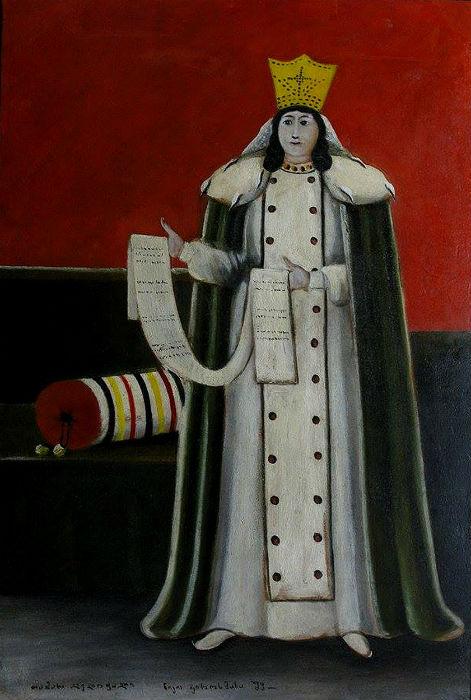 Нико Пиросмани - Царица Тамара - 1915 - Государственный музей искусств Грузии.jpg