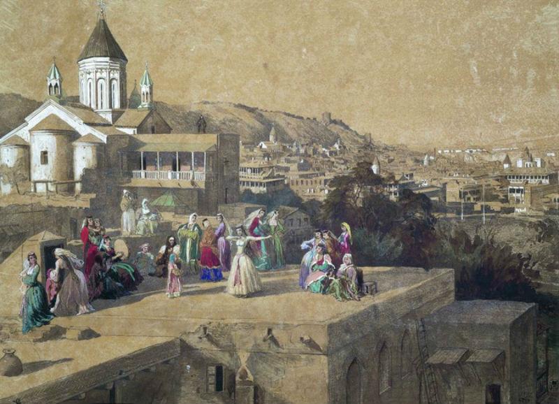 Григорий Григорьевич Гагарин (1810-1893) На тифлисских кровлях.jpg