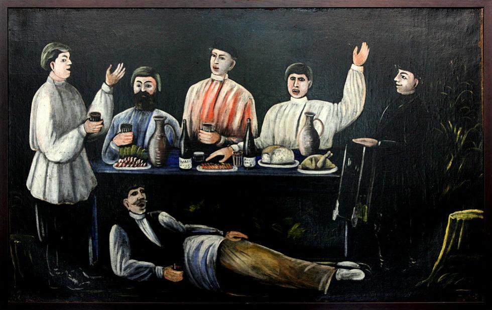Нико Пиросмани - Застолье - 1907 - Музей Пиромани в селе Мирзаани.jpg