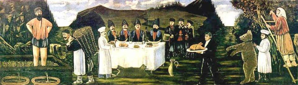 Нико Риросмани - Кутёж во время сбора урожая 1906.jpg