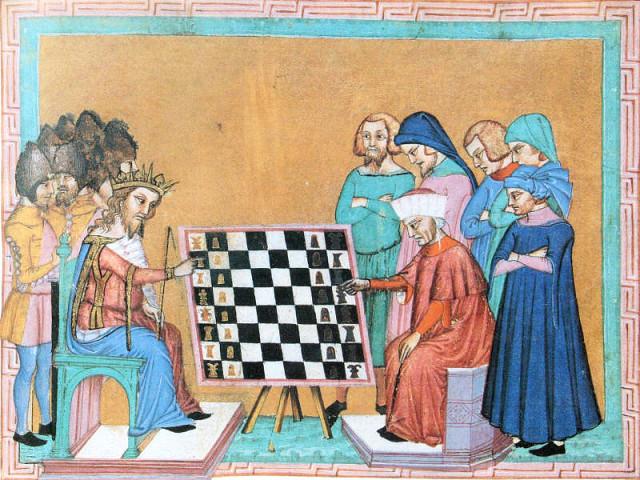 Якобус Цессолис. Книга о нравах и обязанностях знати, или О шахматной игре. Игроки в шахматы XV век.jpg