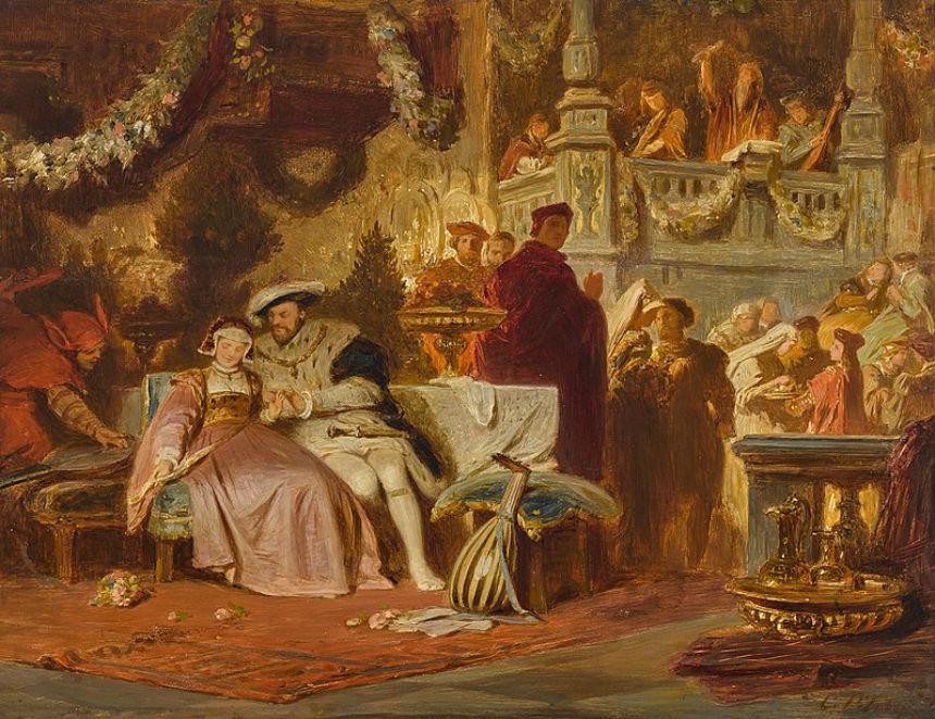 Карл Теодор фон Пилоти - ГенрихVIII с Анной Болейн на балу у кардинала Уолси.jpg