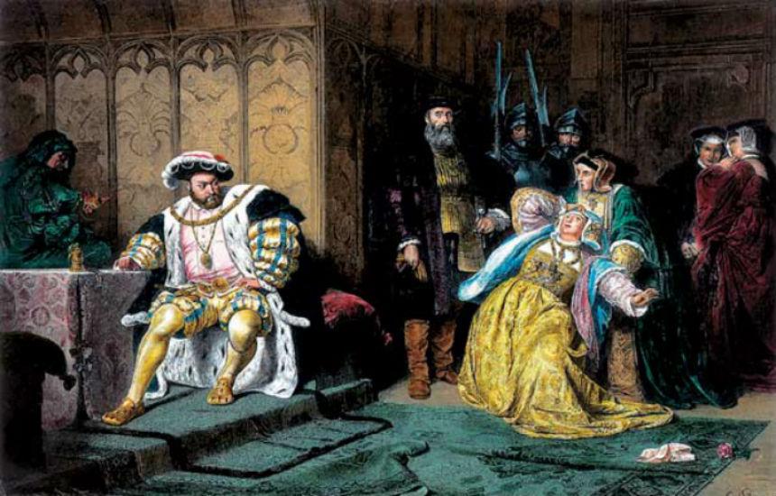 Карл Теодор фон Пилоти - Генрих VIII обвиняет Анну в измене - 1880.jpg