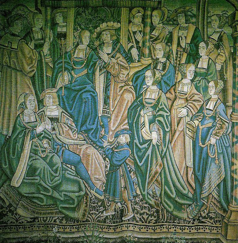 Фламандский гобелен с изображением свадьбы Артура принца Уэльского и инфанты Каталины Арагонской начало XVI века.jpg