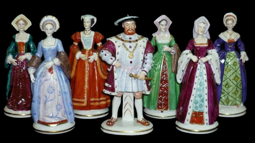 Статуэтки Генрих VIII и шесть его жён - Германия Тюрингия (1918-1954) - Мануфактура Зитцендорф - Sitzendorf.jpg