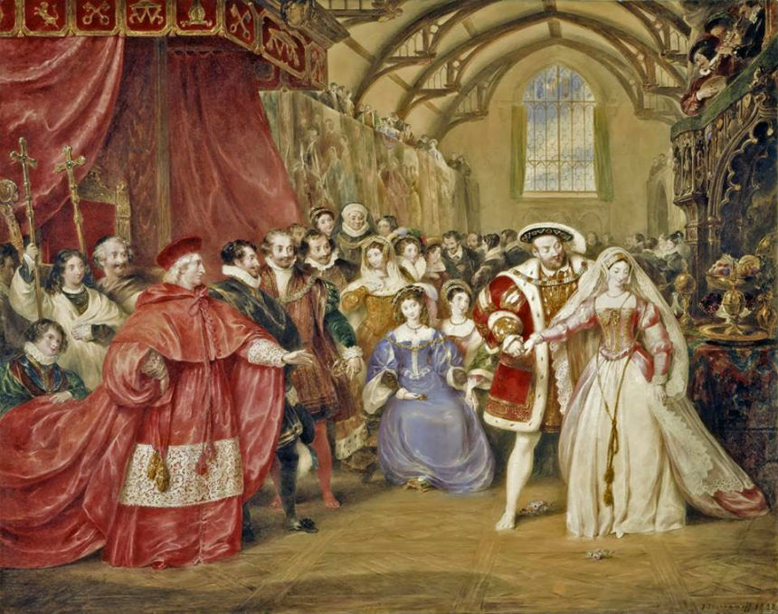 James Stephanoff (1788-1874) - The Banquet of Henry VIII in York Place (Whitehall Palace) (1832).jpg