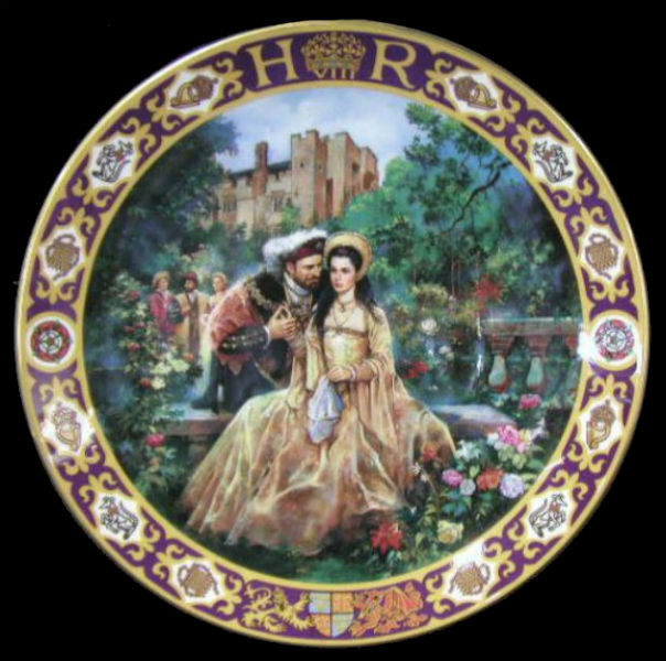 Royal Doulton Collector's Plate - Henry VIII in the garden with Anne Boleyn probably influenced by the 1969 film Anne of the Thousand Days.jpg