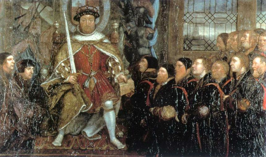 Генрих VIII утверждает устав парикмахеров-хирургов - Ганс Гольбейн Младший - 1543 - Royal College of Surgeons of England - London.jpg