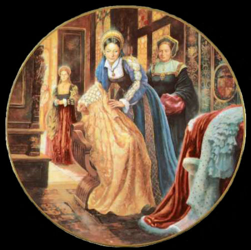 Екатерина Говард - Royal-Doulton-Henry-VIII - декоративные тарелки.jpg