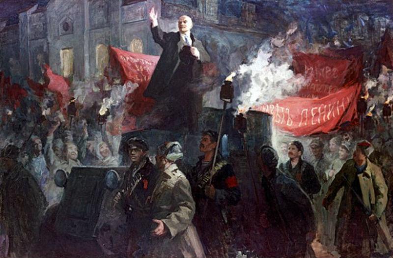 Вера Любимова - Приезд В. И. Ленина в Петроград 3 апреля 1917 года.jpg