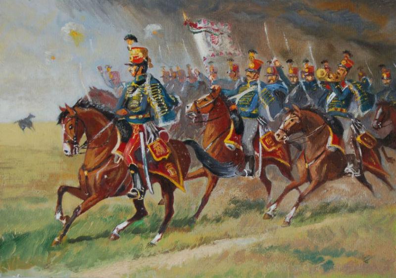 Altorjai Göbel János - Наступающие гусары с мечами наголо.jpg