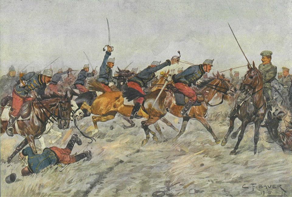 Карл Франц Бауэр -  Схватка в Галиции.jpg