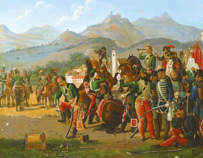 Világosi_fegyverletétel - Венгерская капитуляция в Вилагоши 13 августа 1849 года перед генералом Паскевичем.jpg