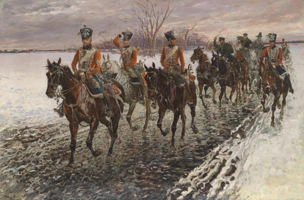 Jan Wladyslaw von Chelminski 1851–1925 Der Rückzug aus Moskau.jpg
