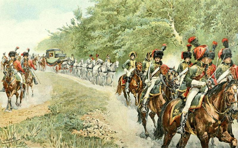 Кортеж Наполеона - Фелициан Мирбах-Рейнфельд - Иллюстрация к книге Уильяма Миллигана Слоана Жизнь Наполеона Бонапарта (1896).jpg