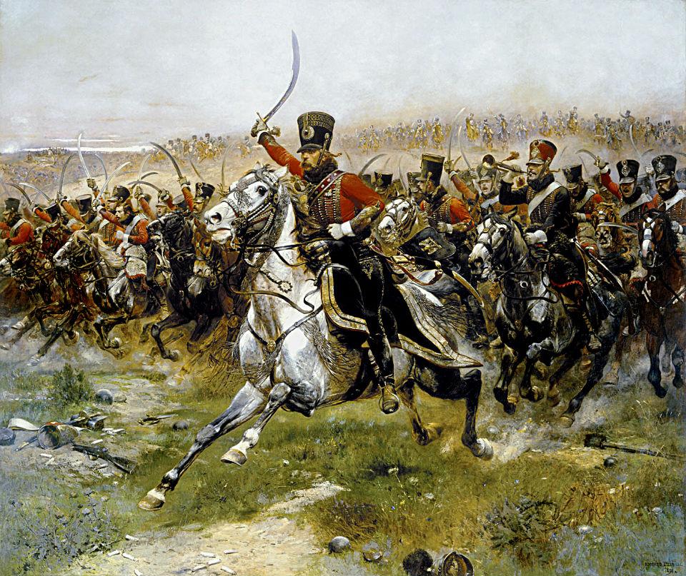 Vive L'Empereur - Виват Император! - Атака Четвёртого гусарского полка в сражении при Фридланде 14 июня 1807 -  Жан Батист Эдуард Детайль.jpg