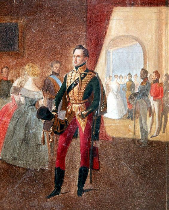 Адольф Игнатьевич Ладюрнер (1799-1855) - Император Николай I на балу.jpg