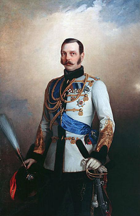 Портрет Императора Александра II в ментике Лейб-Гвардии Гусарского Его Величества полка - Николай Лавров.jpg