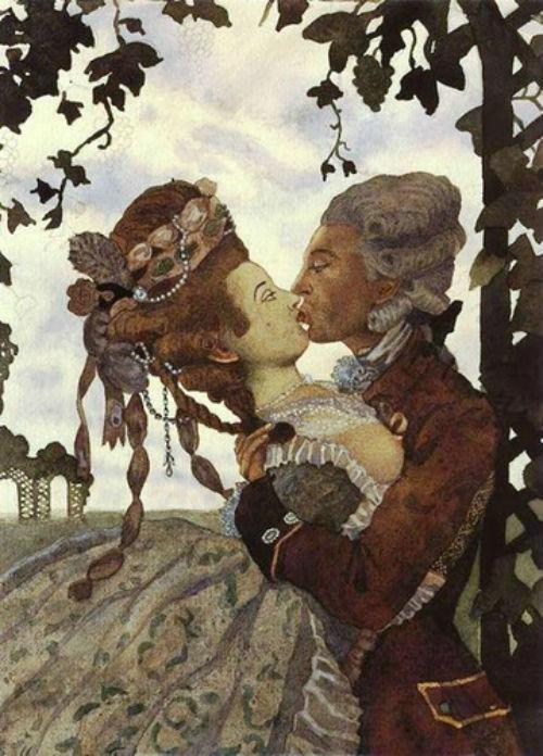 Константин Андреевич Сомов (1869-1939)  - Поцелуй.jpg