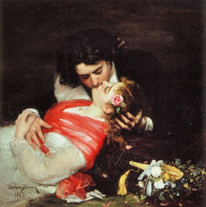 Каролюс Дюран (1838 - 1917) - Поцелуй (Le Baiser) - 1868.jpg