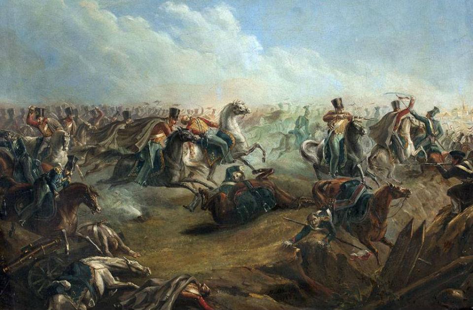 М.Ю.Лермонтов - Схватка русских лейб-гусар с польскими уланами под Варшавой 26 августа 1831 года (по старому стилю).jpg